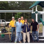 Photo of volunteers in playground